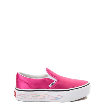 Youth Pink Vans Slip On Platform Skate Shoe