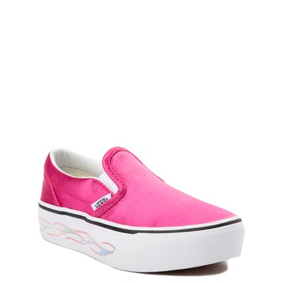 Alternate view of Youth Pink Vans Slip On Platform Skate Shoe