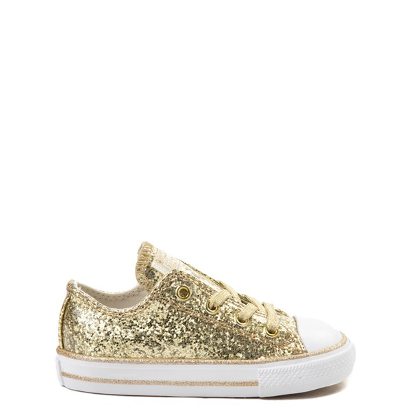 Default view of Converse Chuck Taylor All Star Lo Glitter Sneaker - Baby / Toddler - Gold