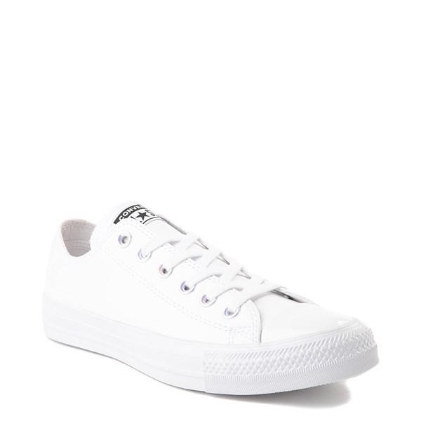alternate view Converse Chuck Taylor All Star Lo Patent Sneaker - White MonochromeALT1