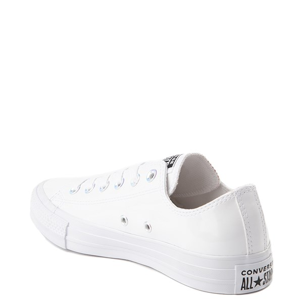 alternate view Converse Chuck Taylor All Star Lo Patent Sneaker - White MonochromeALT2