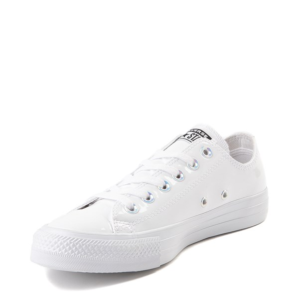 alternate view Converse Chuck Taylor All Star Lo Patent Sneaker - White MonochromeALT3