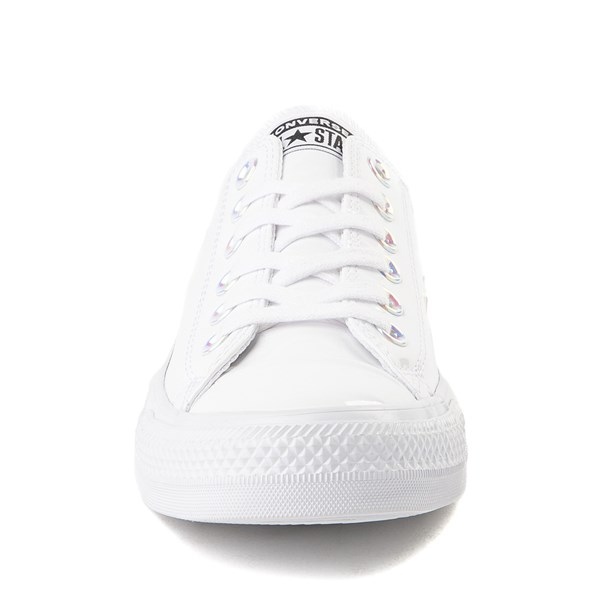 alternate view Converse Chuck Taylor All Star Lo Patent Sneaker - White MonochromeALT4