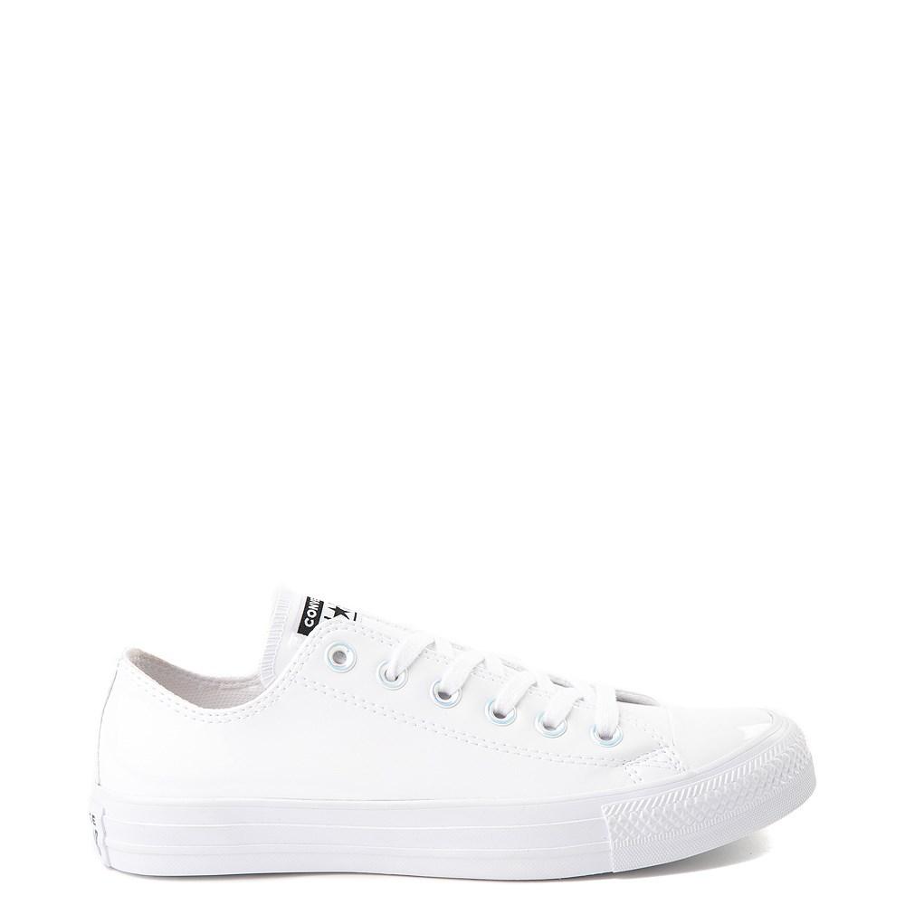 Converse Chuck Taylor All Star Lo Patent Sneaker - White Monochrome