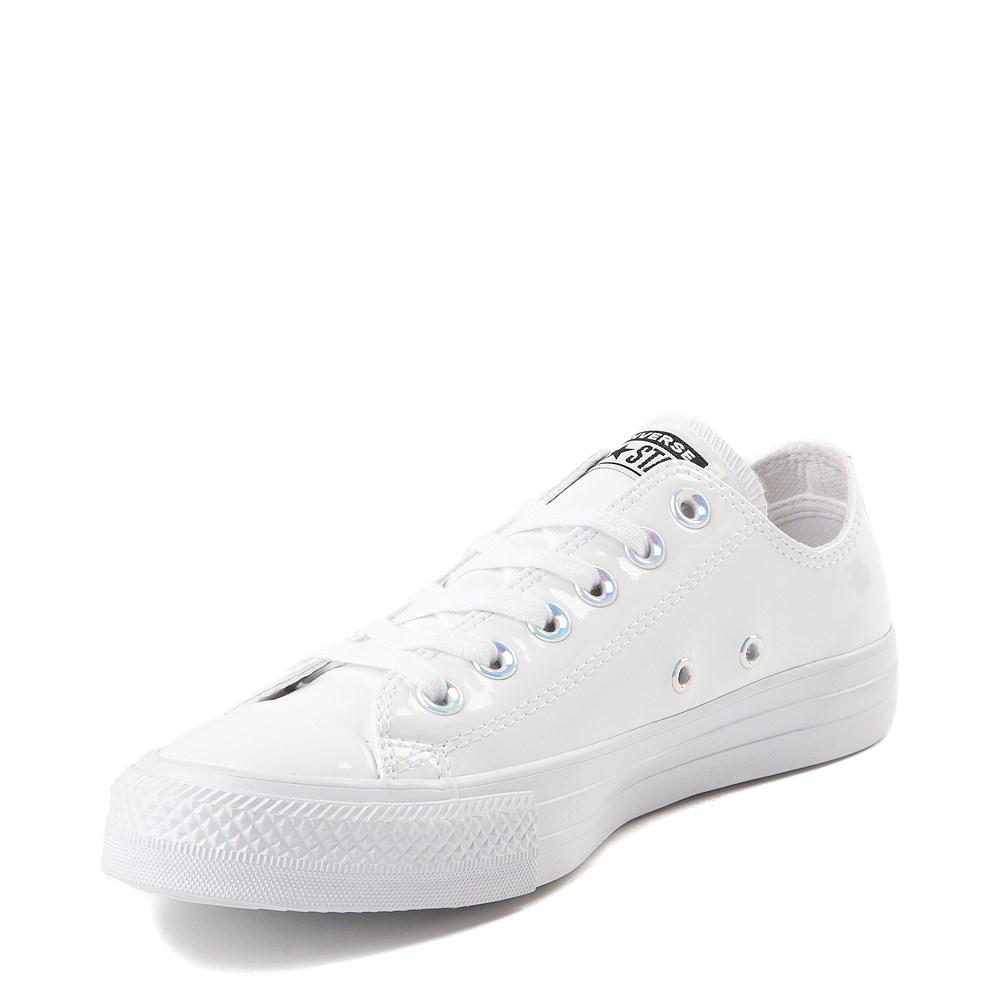 converse white platform leather