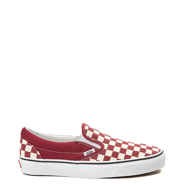 Vans Slip On Checkerboard Skate Shoe - Rumba Red