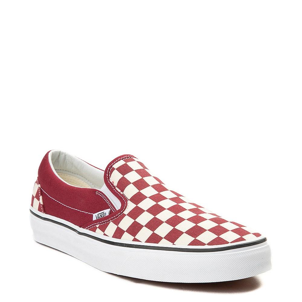 Vans Slip On Checkerboard Skate Shoe Rumba Red