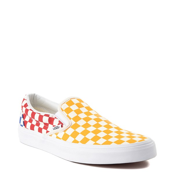 alternate view Vans Slip On Color-Block Chex Skate ShoeALT1