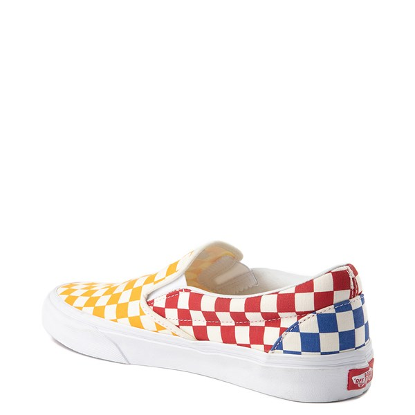 alternate view Vans Slip On Color-Block Checkerboard Skate Shoe - MultiALT2