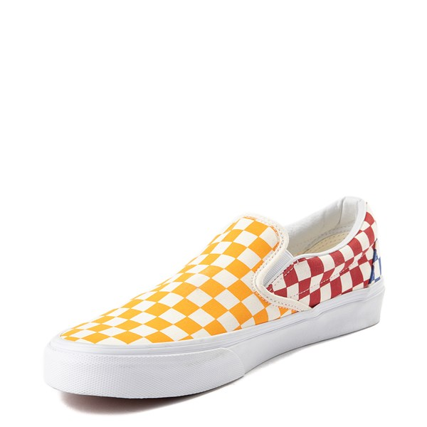 alternate view Vans Slip On Color-Block Chex Skate ShoeALT3