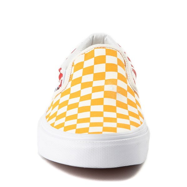 alternate view Vans Slip On Color-Block Chex Skate ShoeALT4