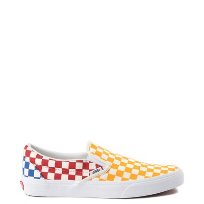 Main view of Vans Slip On Color-Block Checkerboard Skate Shoe - Multi