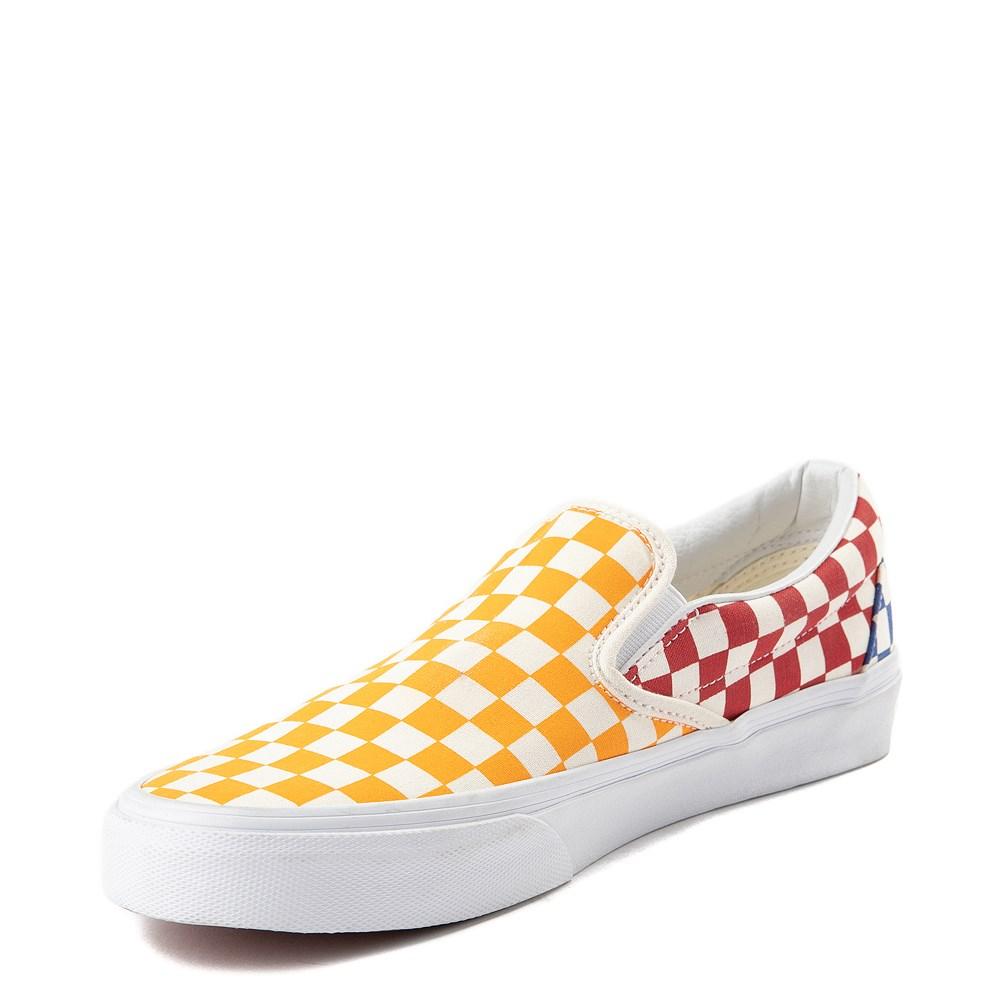 Vans Slip On Color-Block Chex Skate Shoe | Journeys