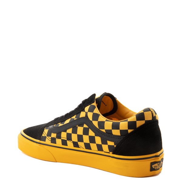 alternate view Vans Old Skool Checkerboard  Skate Shoe - Black / Spectra YellowALT2