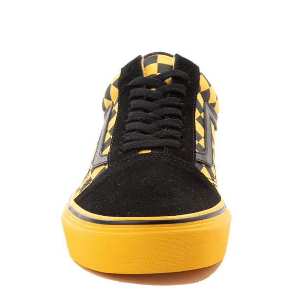 alternate view Vans Old Skool Checkerboard  Skate Shoe - Black / Spectra YellowALT4