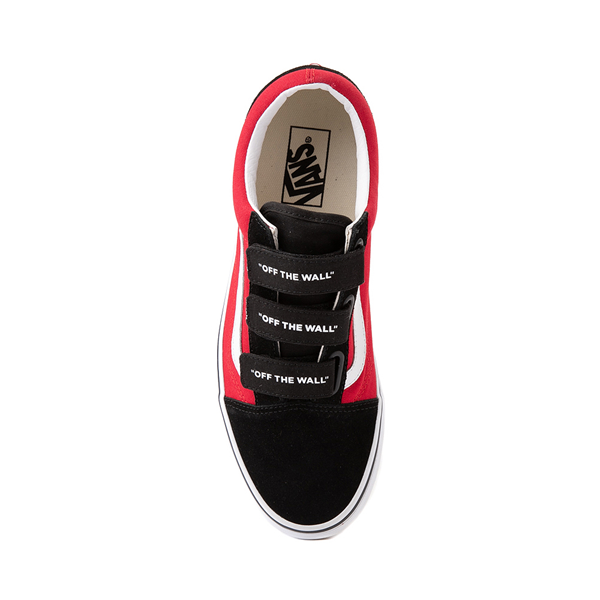 alternate view Vans Old Skool V Logo Pop Skate Shoe - Red / BlackALT2