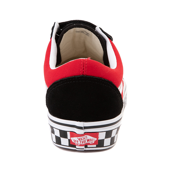 alternate view Vans Old Skool V Logo Pop Skate Shoe - Red / BlackALT3