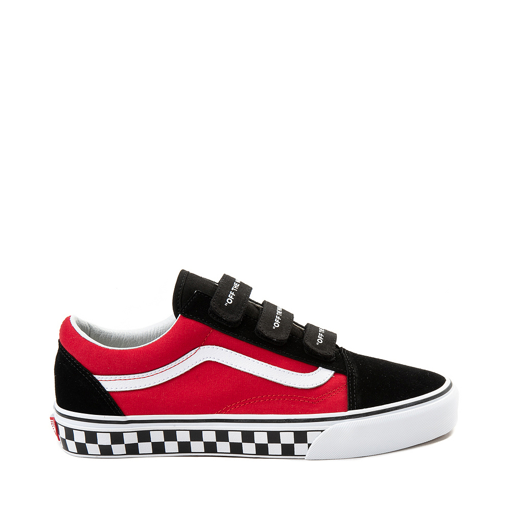Vans Old Skool V Logo Pop Skate Shoe - Red / Black