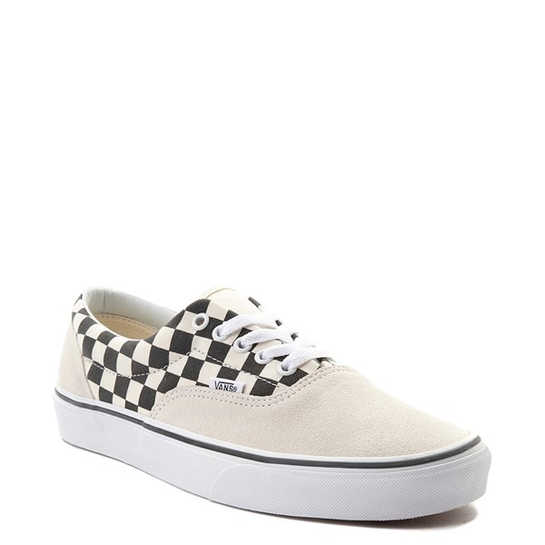 alternate view Vans Era Checkerboard  Skate Shoe - Marshmallow White / BlackALT1