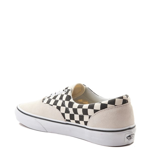 alternate view Vans Era Checkerboard  Skate Shoe - Marshmallow White / BlackALT2