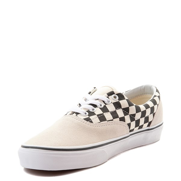 alternate view Vans Era Checkerboard  Skate Shoe - Marshmallow White / BlackALT3