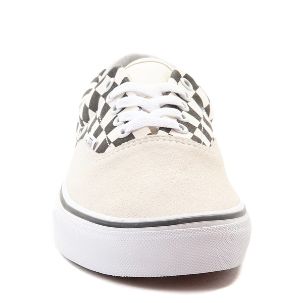 alternate view Vans Era Checkerboard  Skate Shoe - Marshmallow White / BlackALT4