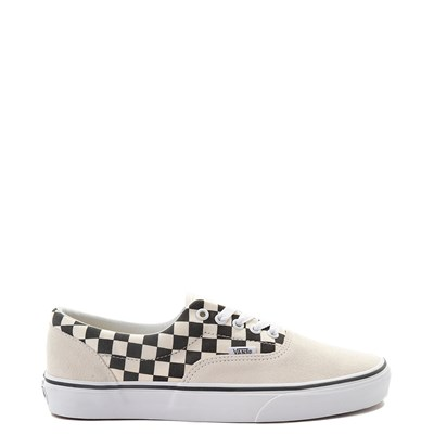 Main view of Vans Era Checkerboard  Skate Shoe - Marshmallow White / Black