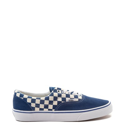 Main view of Vans Era Checkerboard Skate Shoe - Blue / White