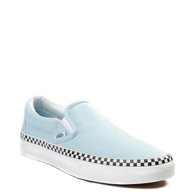 Alternate view of Cool Blue Vans Slip On Chex Skate Shoe