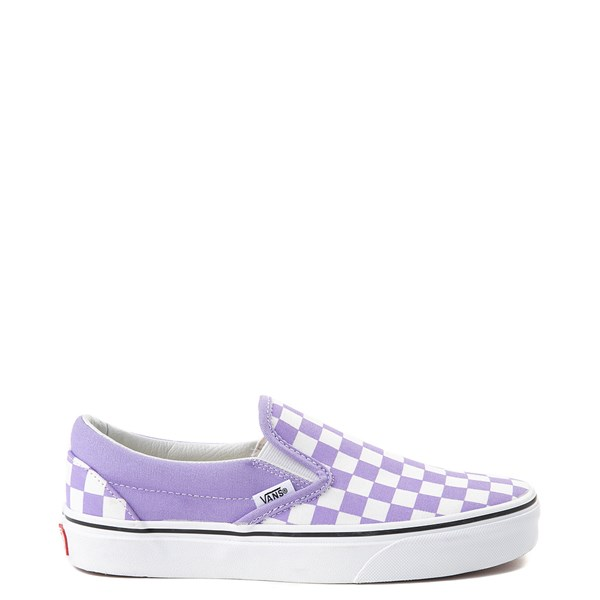 Main view of Vans Slip On Checkerboard Skate Shoe - Violet Tulip