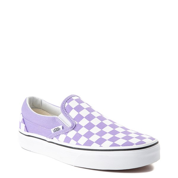 alternate view Vans Slip On Checkerboard Skate Shoe - Violet TulipALT1