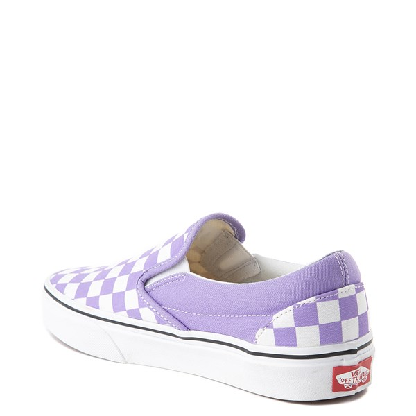 alternate view Vans Slip On Checkerboard Skate Shoe - Violet TulipALT2