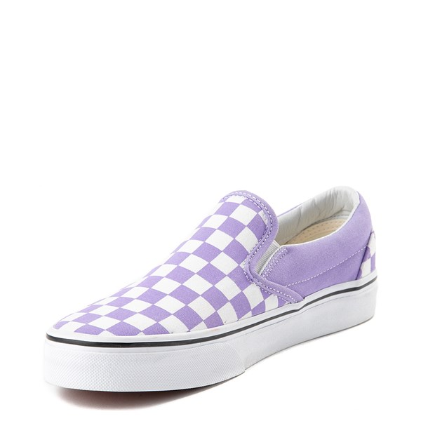 alternate view Vans Slip On Checkerboard Skate Shoe - Violet TulipALT3