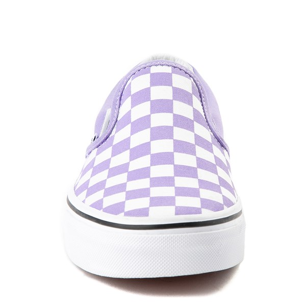 alternate view Vans Slip On Checkerboard Skate Shoe - Violet TulipALT4