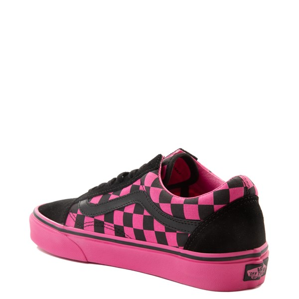 alternate view Vans Old Skool Checkerboard Skate Shoe - Pink / BlackALT2
