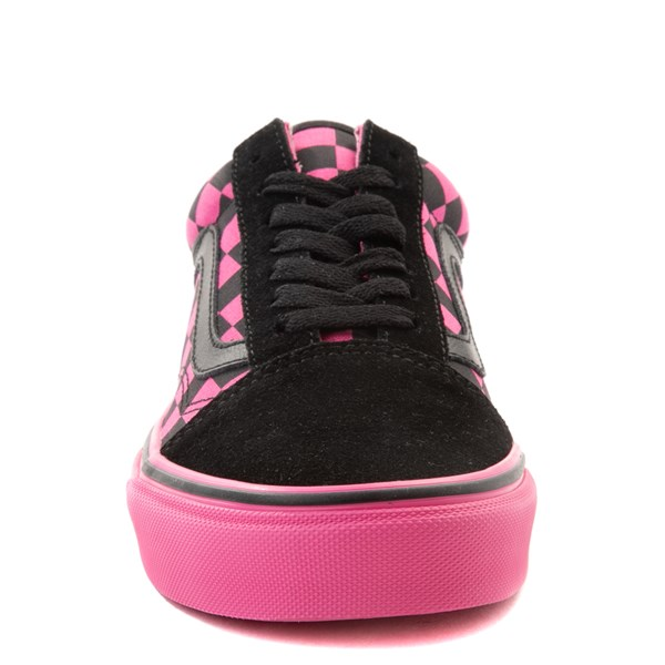 alternate view Vans Old Skool Checkerboard Skate Shoe - Pink / BlackALT4
