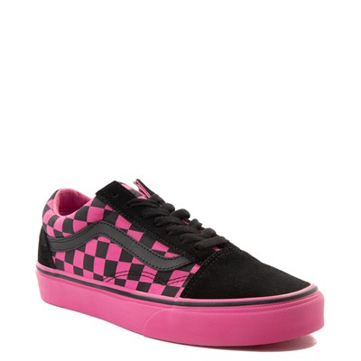 Alternate view of Vans Old Skool Checkerboard Skate Shoe - Pink / Black
