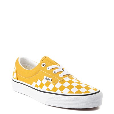 Alternate view of Vans Era Checkerboard Skate Shoe - Yolk Yellow