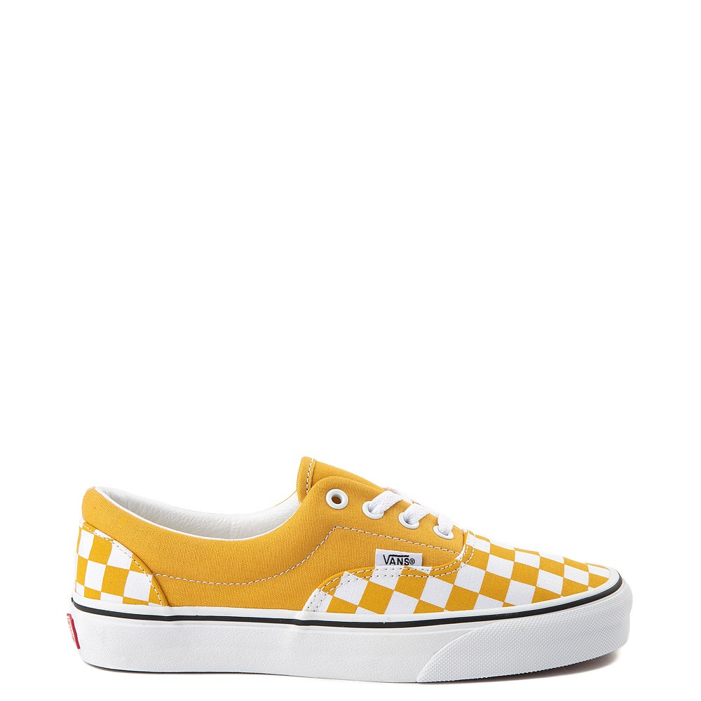 Vans Era Checkerboard Skate Shoe - Yolk Yellow