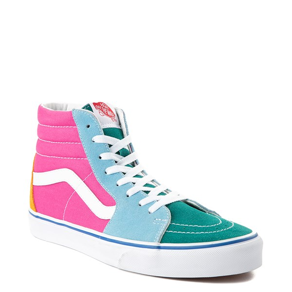 alternate view Vans Sk8 Hi Color-Block Skate Shoe - MultiALT1