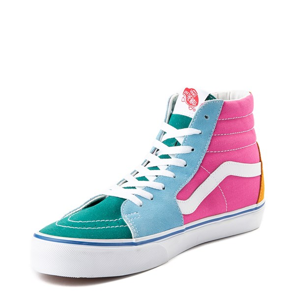 alternate view Vans Sk8 Hi Color-Block Skate Shoe - MultiALT3
