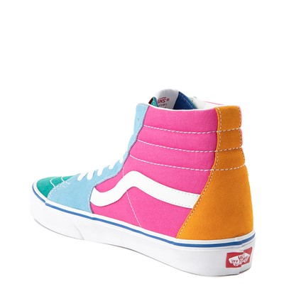 Alternate view of Vans Sk8 Hi Color-Block Skate Shoe - Multi