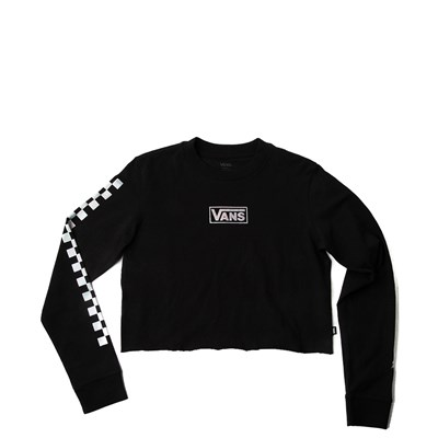 Main view of Womens Vans Iridescent Chex Cropped Long Sleeve Tee