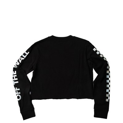 Alternate view of Womens Vans Iridescent Chex Cropped Long Sleeve Tee