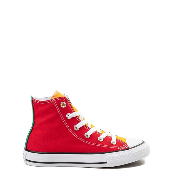 Converse Chuck Taylor All Star Hi Color-Block Sneaker - Little Kid - Multicolor