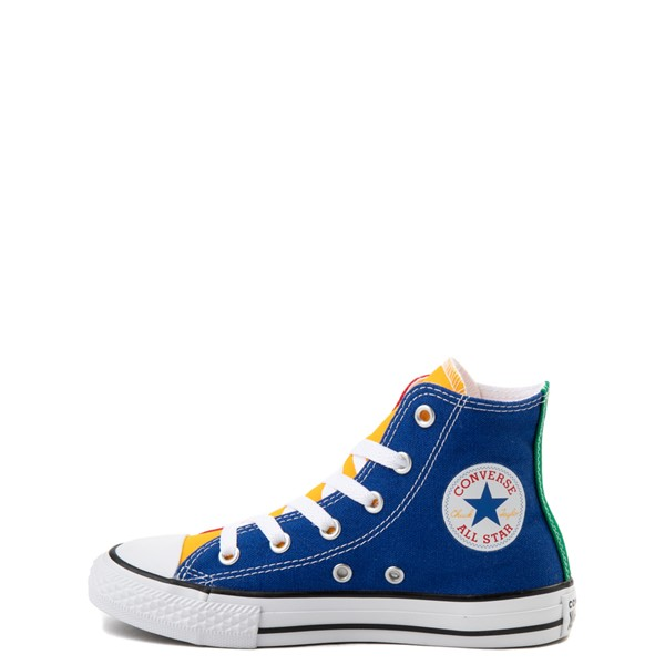 alternate view Converse Chuck Taylor All Star Hi Color-Block Sneaker - Little Kid - MulticolorALT1
