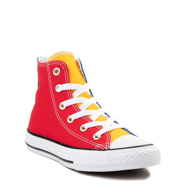 alternate view Converse Chuck Taylor All Star Hi Color-Block Sneaker - Little Kid - MulticolorALT1B