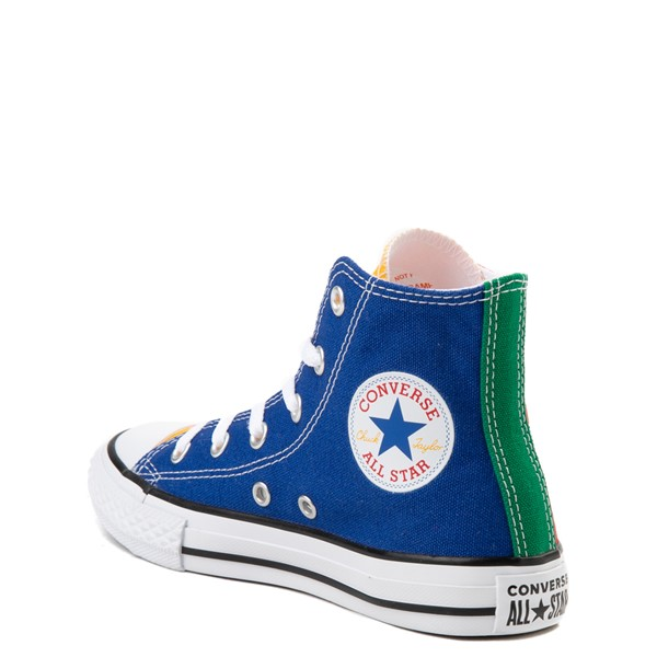 alternate view Converse Chuck Taylor All Star Hi Color-Block Sneaker - Little Kid - MulticolorALT2