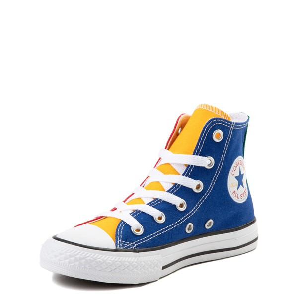 alternate view Converse Chuck Taylor All Star Hi Color-Block Sneaker - Little Kid - MulticolorALT3