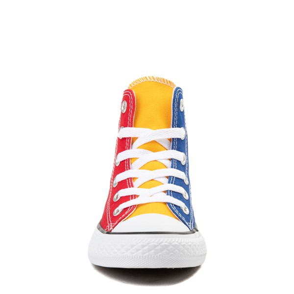 alternate view Converse Chuck Taylor All Star Hi Color-Block Sneaker - Little Kid - MulticolorALT4